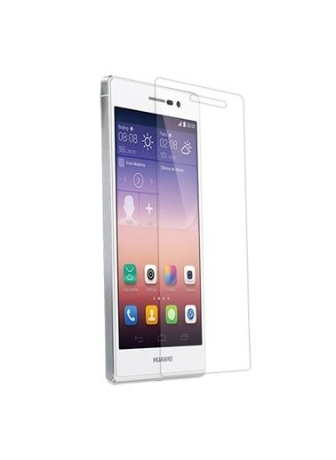 Samsung Huawei Ascend P7 Ekran Koruyucu - Şeffaf - 1 Adet Renkli